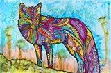 Electric Fox Art Print
