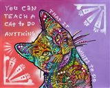 You can teach a cat Art Print