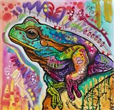 Psychedelic Frog Art Print
