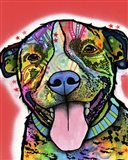 Smiling Pit Bull Zoey Art Print