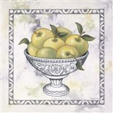 Green Apples In A Silver Bowl Art Print
