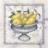 Pears In A Silver Bowl Art Print