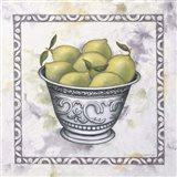 Limes In A Silver Bowl Art Print
