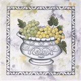 Green Grapes In A Silver Bowl Art Print