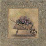 Flowers In A Wheelbarrow Art Print
