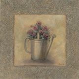 Flowers In A Watering Can Art Print