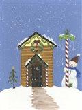 Log Outhouse Art Print