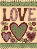 Love I Art Print