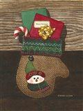 Christmas Mitten Art Print