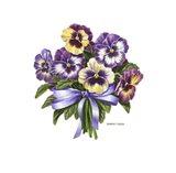 Pansy Bouquet Art Print