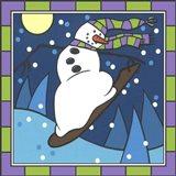Coalman Snowboarding 1 Art Print