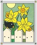 Daffodils With Kernel 4 Art Print