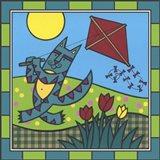 Max Cat Kite 1 Art Print