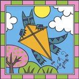 Max Cat Kite 2 Art Print