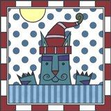 Max Cat Peek-A-Boo 1 Art Print