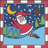 Santa Football 1 Art Print