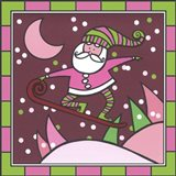 Santa Snowboard 1 Art Print