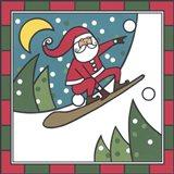 Santa Snowboard 2 Art Print