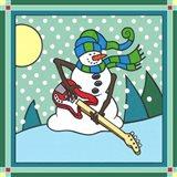 Coalman The Snowman Bass 1 Art Print