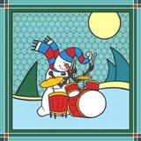 Coalman The Snowman Drums 1 Art Print