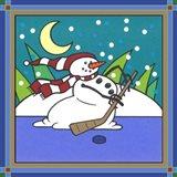 Coalman The Snowman Hockey 1 Art Print