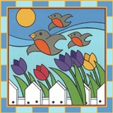 Tulips 3 With Melody The Songbird Art Print