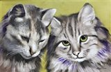 Loving Cats Art Print