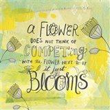 Blooms Quote Art Print