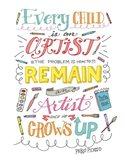 Every Child Is An Artist Art Print