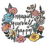 Imagine Yourself Happy Color Art Print
