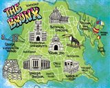 Bronx Map Art Print