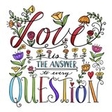 Love is the Answer Color Art Print