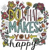 Do What Makes You Happy Color Art Print