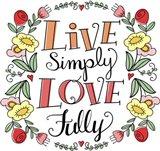 Love Simply Color Art Print