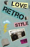 Love Retro Style Art Print