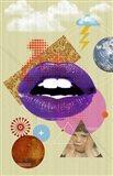 Retro Kiss Art Print