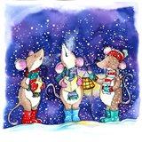 Christmouse Carols Art Print