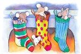 Christmouse Stockings Art Print