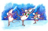 Mice Skating Art Print