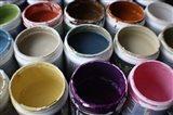 Color Cups & Tape 3 Art Print