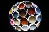 Color Cups & Tape 5 Art Print