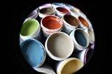 Color Cups & Tape 13 Art Print