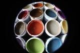 Color Cups & Tape 16 Art Print