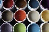 Color Cups & Tape 21 Art Print