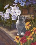 Inspecting The Blooms Art Print