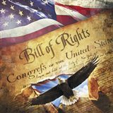 Bill of Rights Eagle Bursting Out Art Print