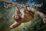 Live Love Hang Art Print