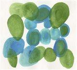 Pebbles Blue Art Print