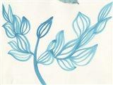 Blooming - blue Art Print