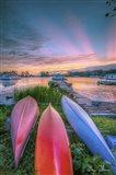 Colorful Houseboats Art Print
